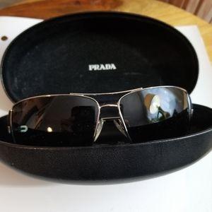 Prada Unisex Aviator Sunglasses